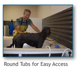 round tubs for easy access